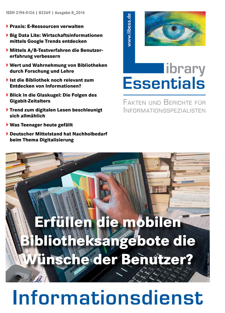 Cover Library Essentials Ausgabe 8/2014