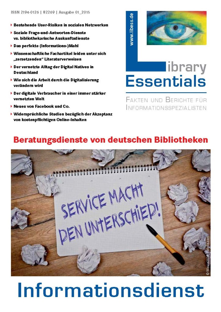 Cover Library Essentials Ausgabe 1/2015