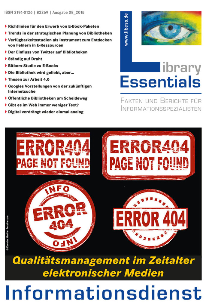 Cover Library Essentials Ausgabe 8/2015