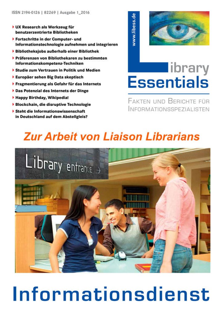 Cover Library Essentials Ausgabe 1/2016