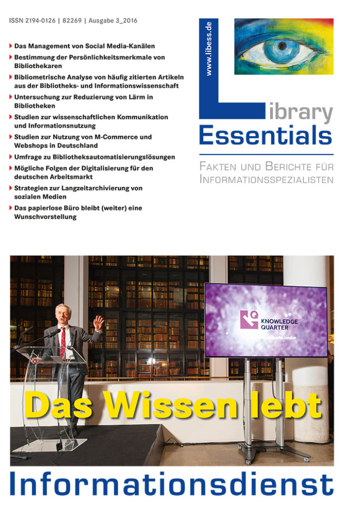 Cover Library Essentials Ausgabe 3/2016