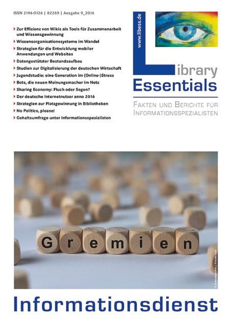 Cover Library Essentials Ausgabe 9/2016