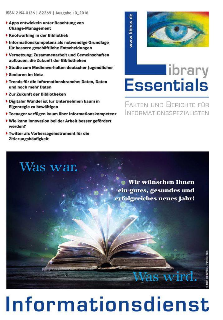 Cover Library Essentials Ausgabe 10/2016