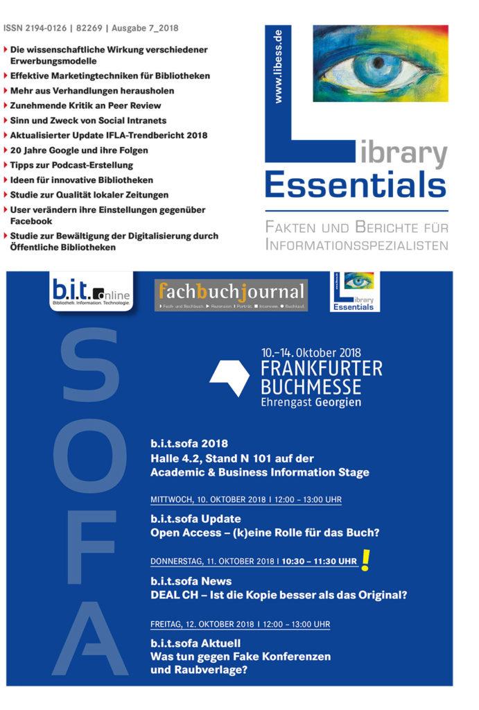 Cover Library Essentials Ausgabe 7/2018