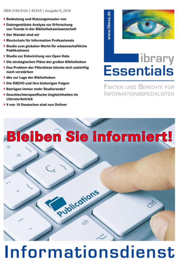Cover Library Essentials Ausgabe 8/2018