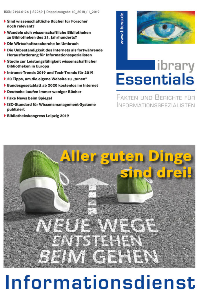 Cover Library Essentials Ausgabe 9/2018