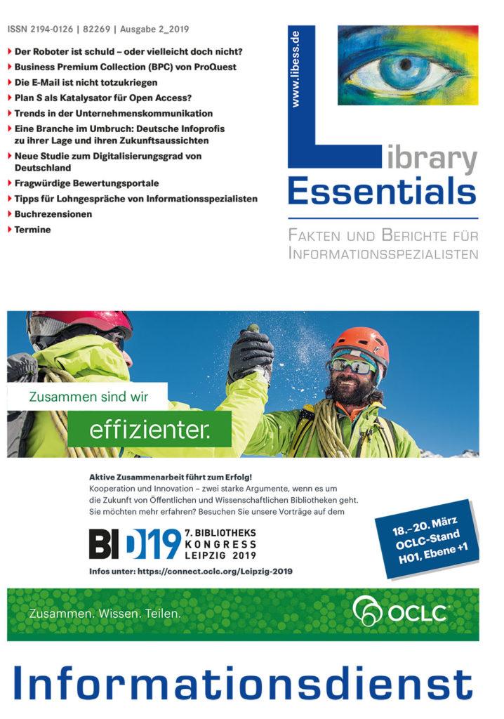 Cover Library Essentials Ausgabe 2/2019