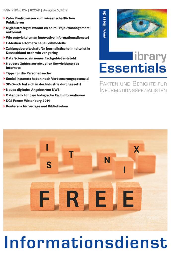 Cover Library Essentials Ausgabe 5/2019
