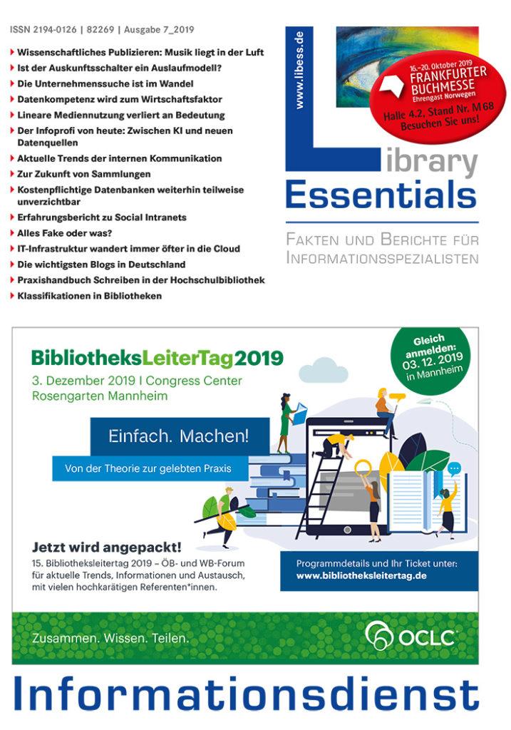 Cover Library Essentials Ausgabe 7/2019