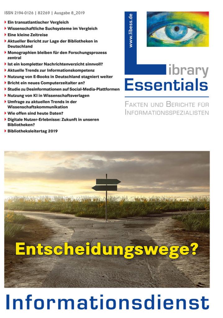 Cover Library Essentials Ausgabe 8/2019