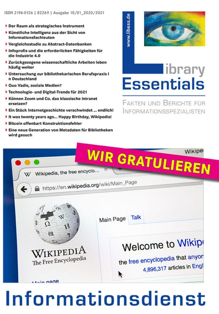 Cover Library Essentials Ausgabe 10-2020/01-2021